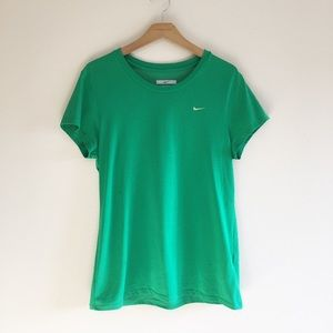 Nike Dri-FIT Green Logo Tee